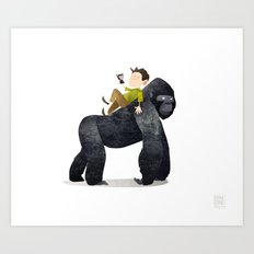 Wild Adventure - Gorilla Art Print