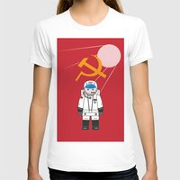 SOVIET Womens Fitted Tee White SMALL