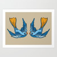 Swallow Tattoo Art Print