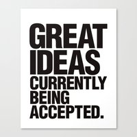 Great Ideas Typography Quote  Canvas Print