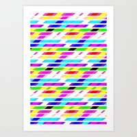 COLOURED STRIPES Art Print