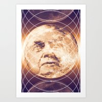 Man in the Moon Phases Art Print