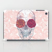 Double Flowers Skull iPad Case