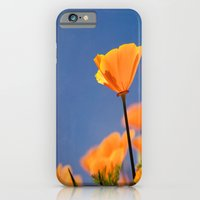 iPhone & iPod Case featuring Poppies on Blue by Maite Pons