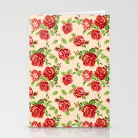 Rose Pattern- Cream Stationery Cards