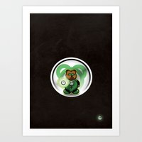Super Bears - The Green … Art Print