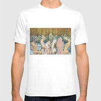 AnimalSkins Mens Fitted Tee White SMALL