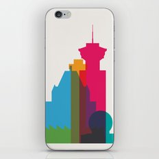 Shapes of Vancouver. Accurate to scale. iPhone & iPod Skin