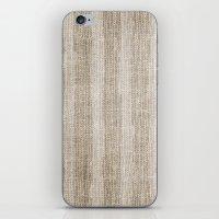 Striped burlap (Hessian series 3 of 3) iPhone & iPod Skin
