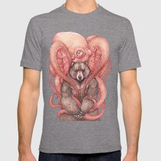 THE KRAKEN AND THE KODIAK Mens Fitted Tee Tri-Grey SMALL