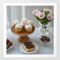 vanilla cupcakes Art Print