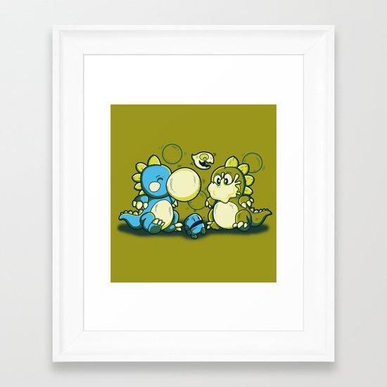 BUBBLE JOKE Framed Art Print
