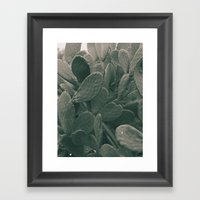 Still Life photo for interior design -  #1 prickly pear leaves Framed Art Print