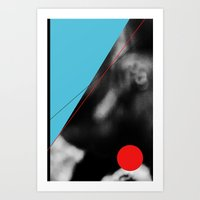 blue and red circle Art Print