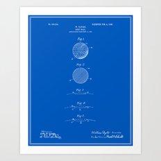 Golf Ball Patent - Bluep… Art Print