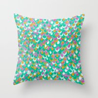 Magic Dragon Scales Throw Pillow