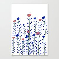 Flowers - floral - flowers - pattern  Canvas Print