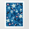 Blue Meadow Art Print