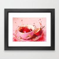 Apple splash Framed Art Print