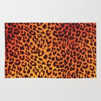 Area & Throw Rug featuring Leopard Pattern by Stefan Trudeau