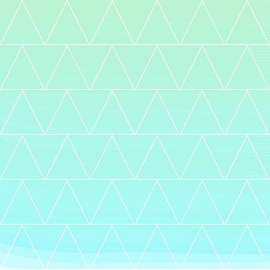 Mint Heaven Triangles Canvas Print