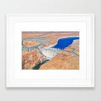 Glen Canyon Dam II Framed Art Print