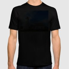 East Point PEI Lighthouse SMALL Mens Fitted Tee Black