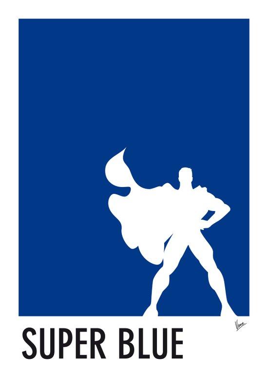 My Superhero 03 SuperBlue Minimal poster Art Print