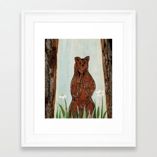Standing Bear Framed Art Print