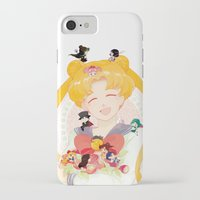 sailor moon iPhone & iPod Cases featuring Sailor Moon by cezra