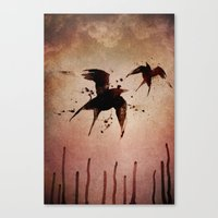On your fears,  ... swallow them.   Canvas Print