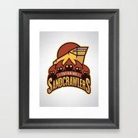 Tatooine SandCrawlers Framed Art Print