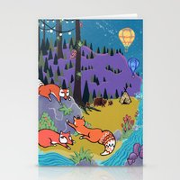 Foxy Forest Stationery Cards