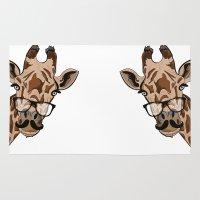 Giraffe moustache Rug