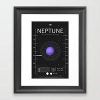 OMG SPACE: Neptune 1970 … Framed Art Print