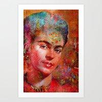 Frida K. Art Print