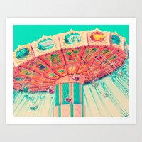 CARNIVAL SWINGS Art Print