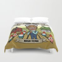 A Gnome Farmer (Morgan Freeman) Duvet Cover