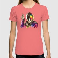 Daft Punk Guy-Manuel De … Womens Fitted Tee Pomegranate SMALL