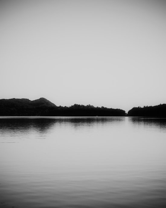 Herring Lake Black and White Canvas Print