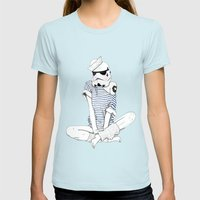 Sailortrooper Womens Fitted Tee Light Blue SMALL