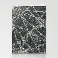 Sparkle Net Black Stationery Cards