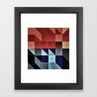 :: geometric maze IX :: Framed Art Print