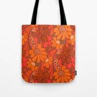 Vintage floral linen fabric  Tote Bag