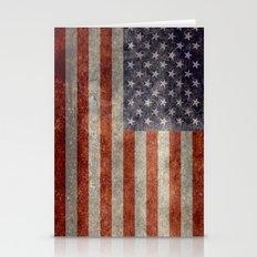 USA Flag - Retro Vintage… Stationery Cards