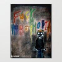 Fuck Homophobia Canvas Print