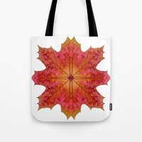 Red Maple Leaf Star Tote Bag