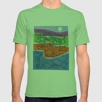 Seoul City #1 Mens Fitted Tee Grass SMALL