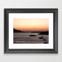 Cape Sounio at Dusk Framed Art Print