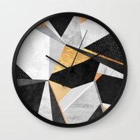 Geometry / Gold Wall Clock